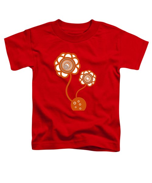 Two Orange Flowers Toddler T-Shirt