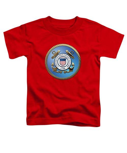 U. S. Coast Guard - U S C G Emblem Toddler T-Shirt