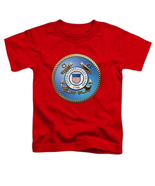 U. S. Coast Guard - U S C G Emblem Toddler T-Shirt