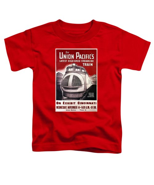 Union Pacific Rail Road - High Speed Train - Vintage Advertising Poster Toddler T-Shirt