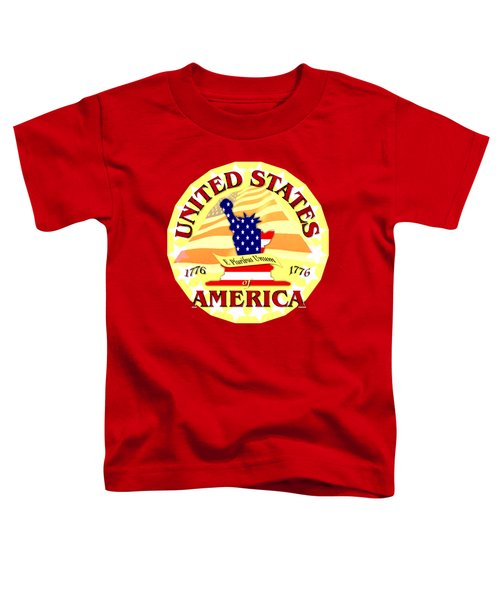 United States Of America Design Toddler T-Shirt