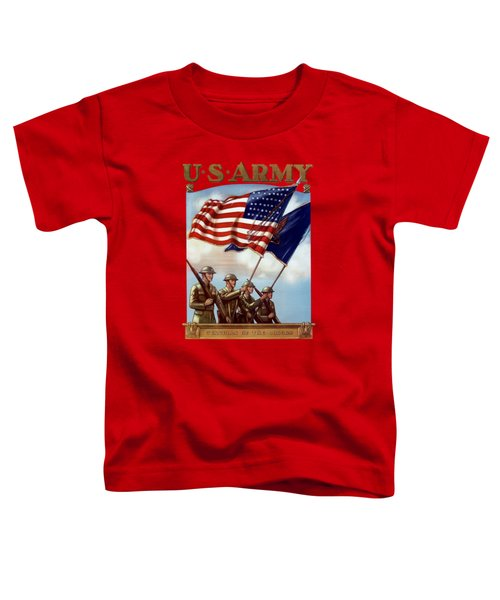 Us Army -- Guardian Of The Colors Toddler T-Shirt