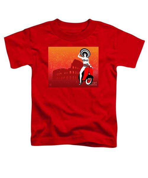 Vespa Girl Toddler T-Shirt