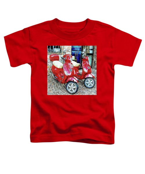 Vespa Twins Red Toddler T-Shirt