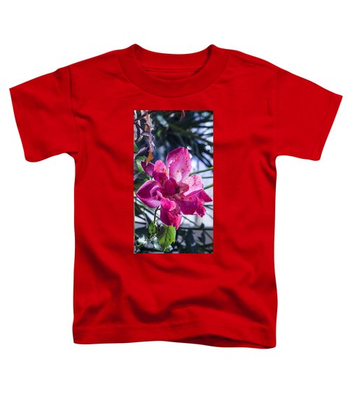 Vibrant Pink Rose Toddler T-Shirt