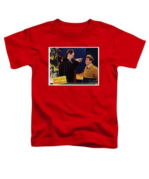 Vintage Movie Posters, Abbott And Costello Meet Frankenstein Toddler T-Shirt