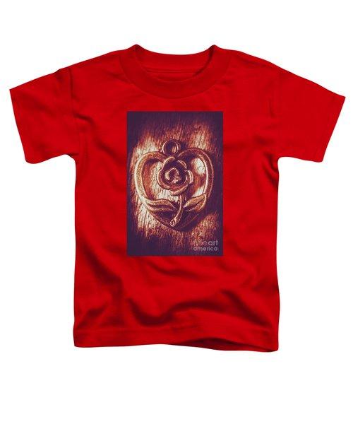 Vintage Ornamental Rose Toddler T-Shirt