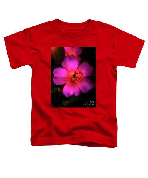 Vivid Rich Pink Flower Toddler T-Shirt