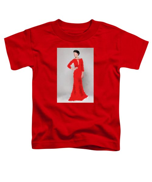 Toddler T-Shirt featuring the digital art Vivienne by Nancy Levan