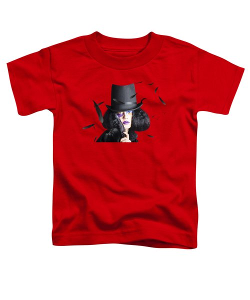 Vogue Woman In Black Costume Toddler T-Shirt