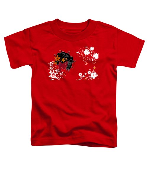 Volimius V1 - Beauty With Flowers Toddler T-Shirt