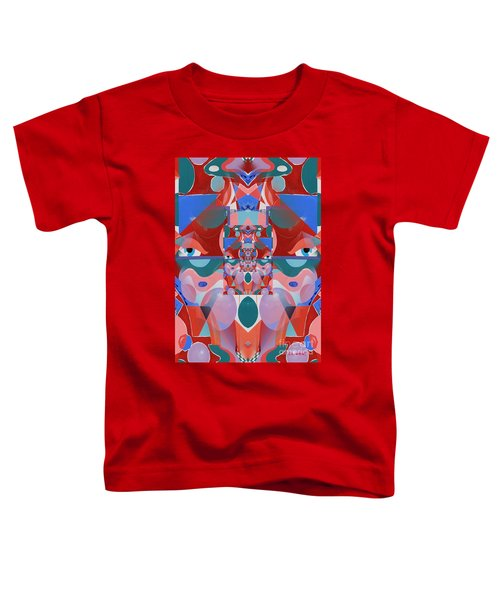 Abstract Vortex In Red Toddler T-Shirt