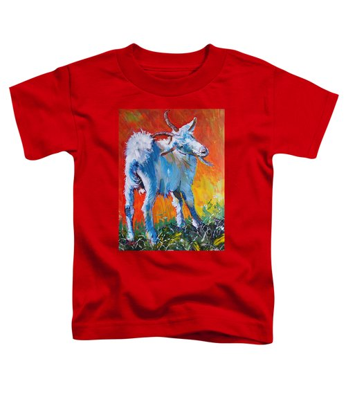 White Goat Painting - Scratching My Back Toddler T-Shirt