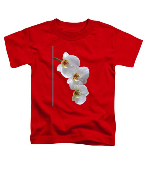 White Orchids On Terracotta Vdertical Toddler T-Shirt