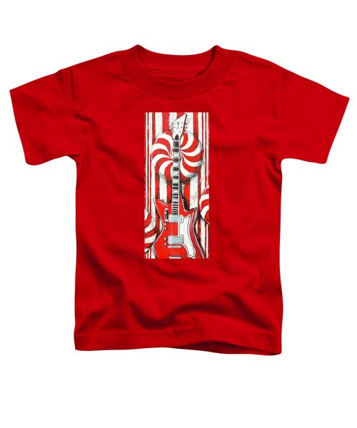 White Stripes Guitar Toddler T-Shirt