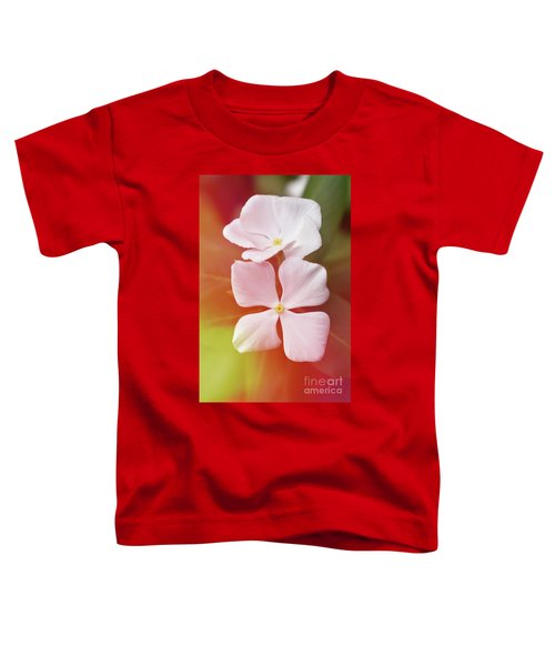 White Vinca With Vivid Highligts  Toddler T-Shirt