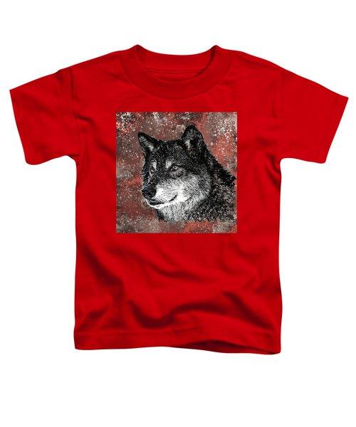 Wild Dark Wolf Toddler T-Shirt