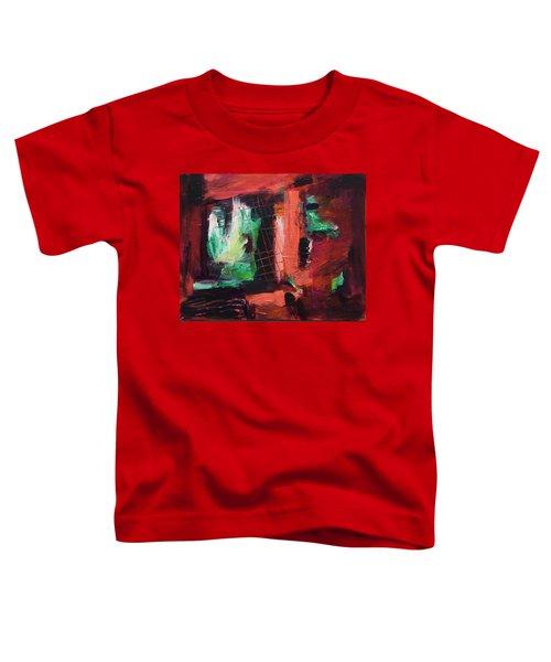 Toddler T-Shirt featuring the painting Window Original Acrylic Painting by Yulia Kazansky
