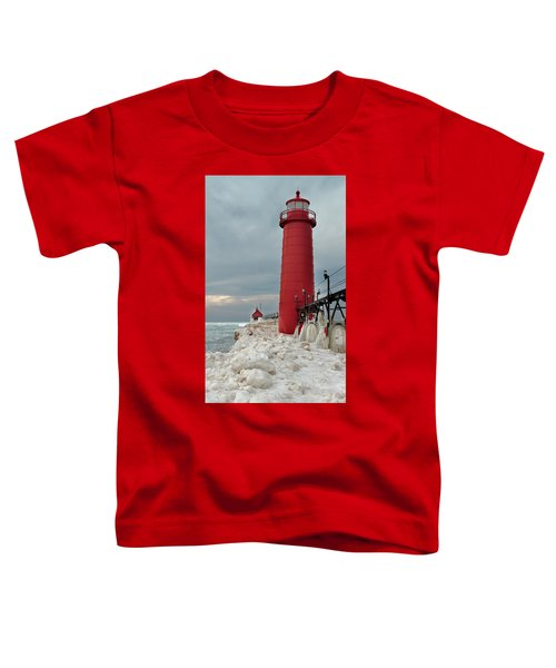 Winter At Grand Haven Lighthouse Toddler T-Shirt