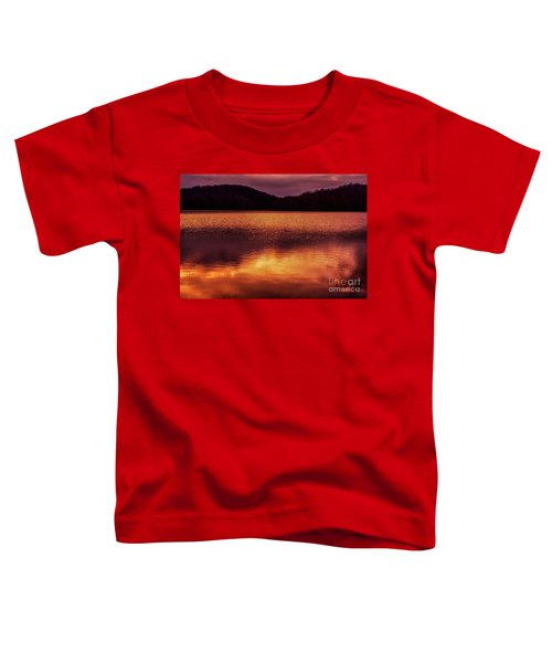 Winter Sunset Afterglow Reflection Toddler T-Shirt