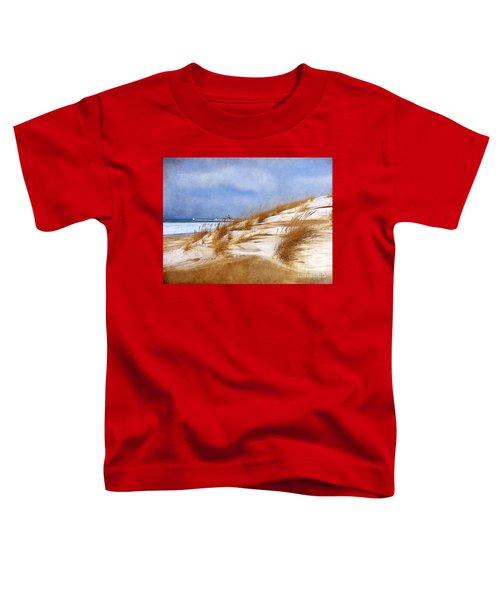 Wintertime St. Joe Lighthouse  Toddler T-Shirt