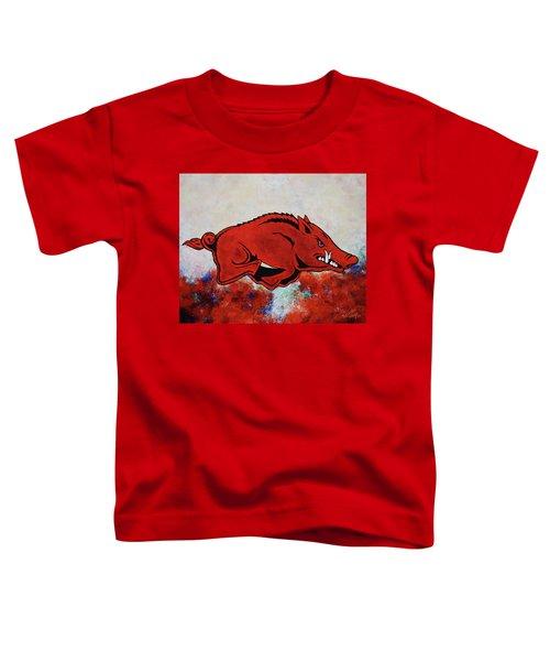 Woo Pig Sooie Toddler T-Shirt by Belinda Nagy