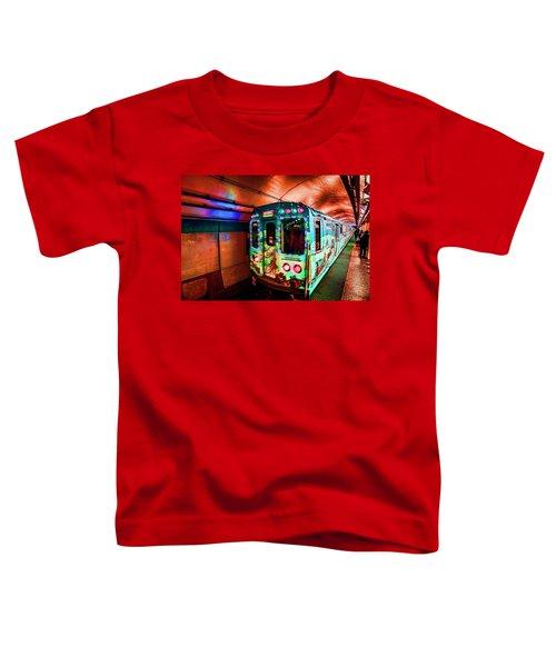 Xmas Subway Train Toddler T-Shirt