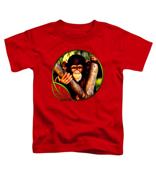 Young Chimpanzee Toddler T-Shirt by Dan Pagisun