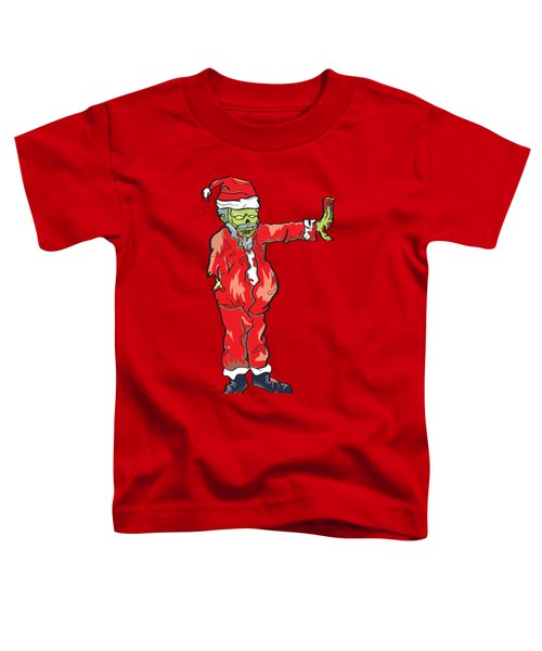 Toddler T-Shirt featuring the drawing Zombie Santa Claus Illustration by Jorgo Photography - Wall Art Gallery