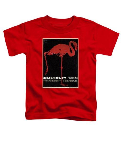 Zoologischer Garten Munchen, Germany - Retro Travel Poster - Vintage Poster Toddler T-Shirt