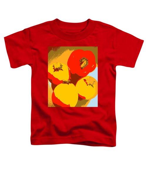 Zucchini And Bell Pepper Toddler T-Shirt