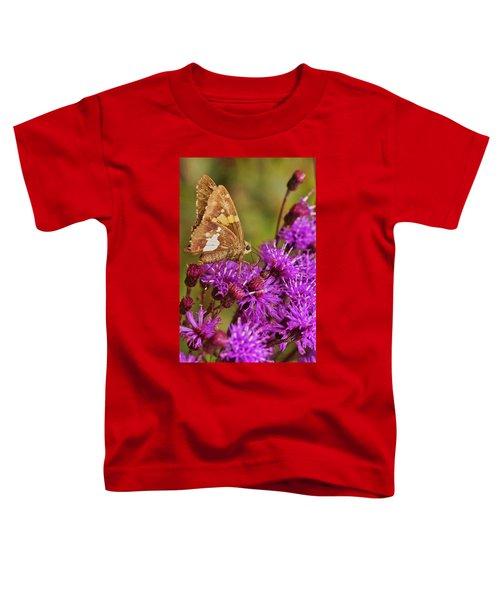Moth On Purple Flowers Toddler T-Shirt