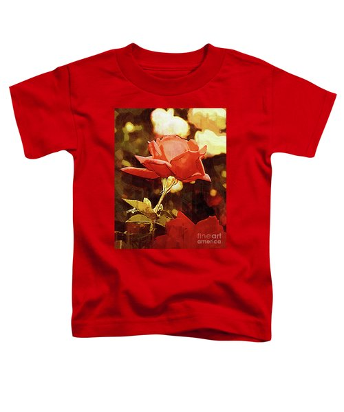 Single Rose Bloom In Gothic Toddler T-Shirt