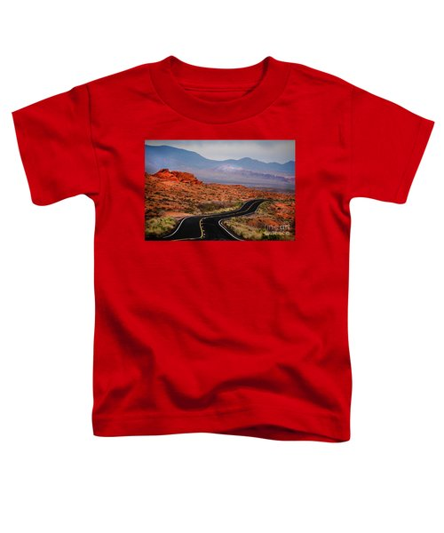 Winding Road In Valley Of Fire Toddler T-Shirt