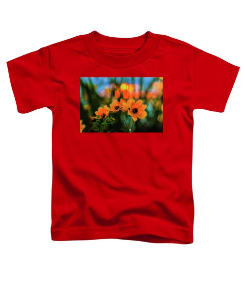 Sunflower Bokeh Sunset Toddler T-Shirt