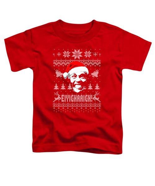 Arnold Schwarzenegger Christmas Shirt Toddler T-Shirt