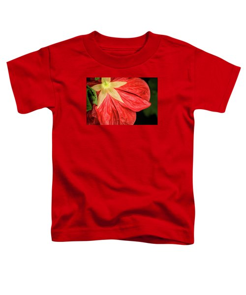 Back Of Red Flower Toddler T-Shirt
