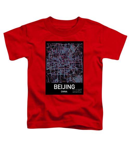 Beijing City Map Toddler T-Shirt