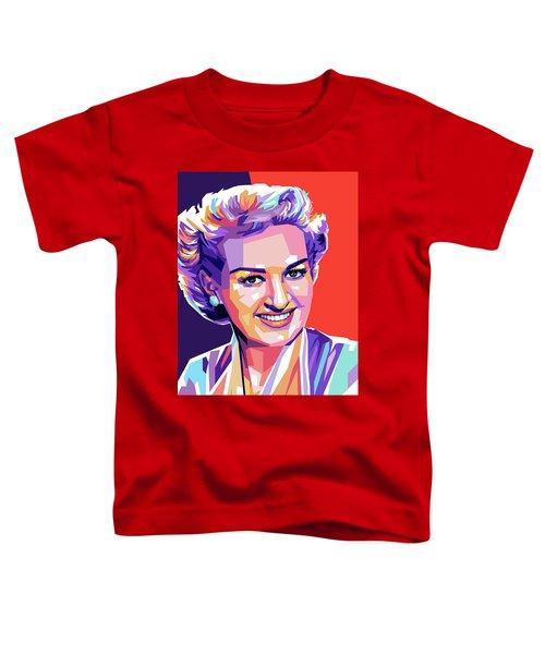 Betty Grable Pop Art Toddler T-Shirt