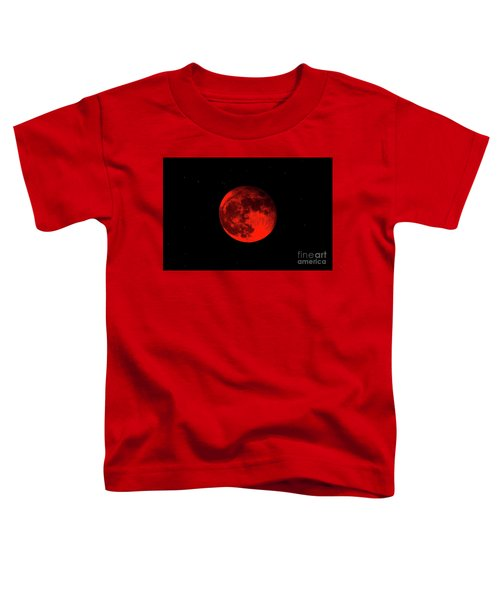 Blood Red Wolf Supermoon Eclipse 873a Toddler T-Shirt