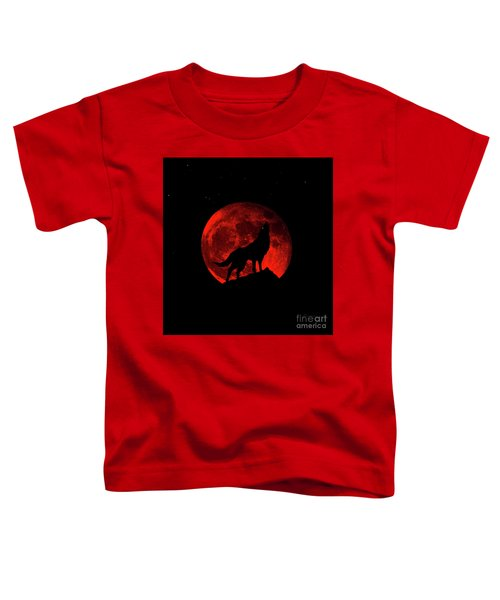 Blood Red Wolf Supermoon Eclipse 873l Toddler T-Shirt