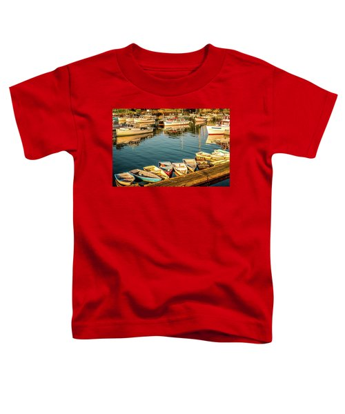 Boats In The Cove. Perkins Cove, Maine Toddler T-Shirt