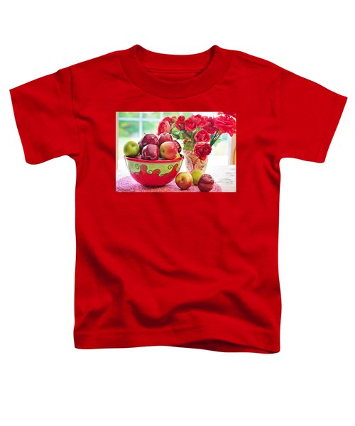 Bowl Of Red Apples Toddler T-Shirt