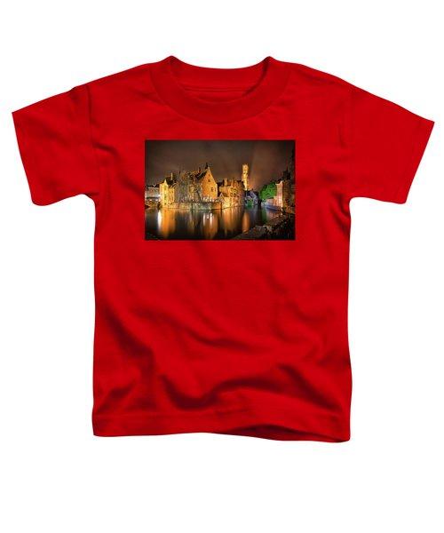 Brugge Belgium Belfry Night Toddler T-Shirt