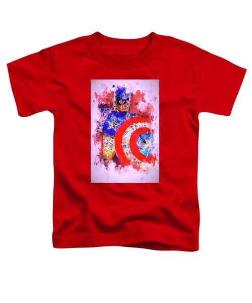 Captain America Watercolor Toddler T-Shirt
