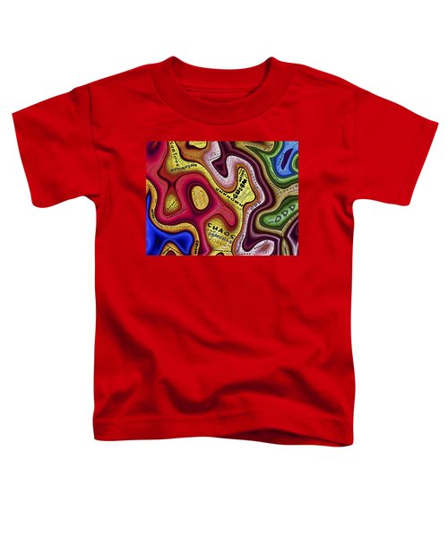 Colorful Curve Line Toddler T-Shirt