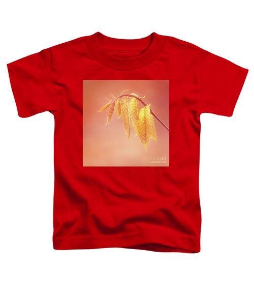 Delightful Baby Chestnut Leaves Toddler T-Shirt