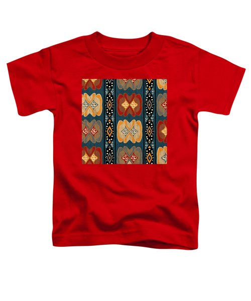 East African Heart And Diamond Stripe Pattern Toddler T-Shirt