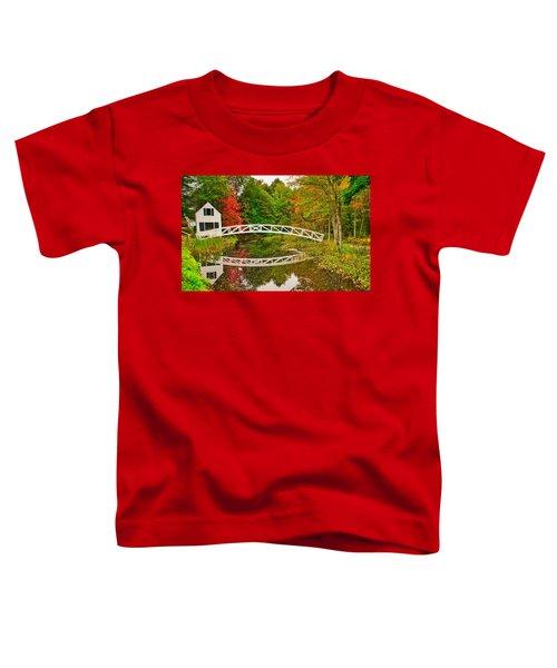 Fall Footbridge Reflection Toddler T-Shirt
