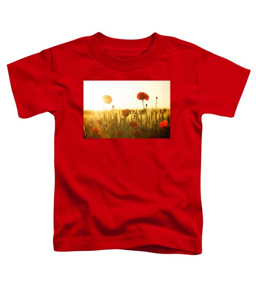 Field Of Poppies At Dawn Toddler T-Shirt